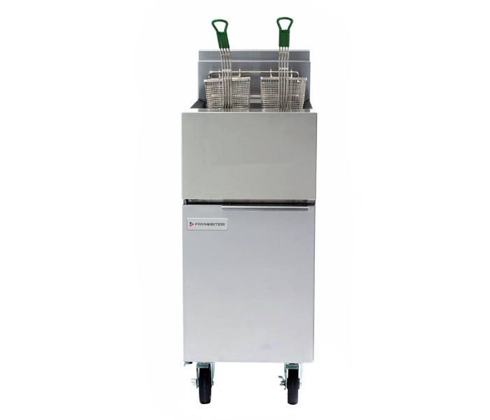 GF14 Gas Fryer Shown with optional casters
