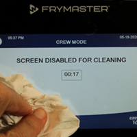Screen Disabled for cleaning